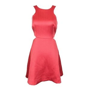 Club Monaco Salmon Pink Open Side Skater Dress